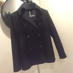 Classic J. Crew peacoat Classic peacoat. Good condition. Small tear in interior lining under right arm hole- not visible when worn, easily repaired J. Crew Jackets & Coats Pea Coats