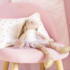 Coussin en coton blanc à pois dorés 40x25cm | Maisons du Monde