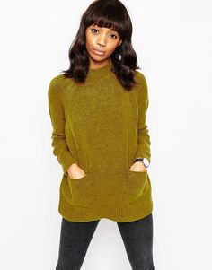 Image 1 of ASOS A Line Tunic In Soft Yarn With Pocket Detail