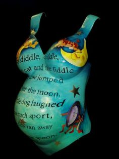Belly Mold with nursery rhyme, bible verse, or quote