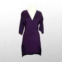 Silk V Dress Purple now featured on Fab.