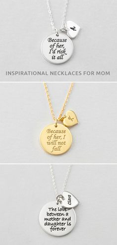 Mother Daughter Matching Necklaces • Inpirational Necklace For Mom • engraved charm necklace • New baby gift • nameplate necklace • silver necklace • Personalized Necklace • Custom Jewelry • engravable necklace • engravable necklace for her • Personalized mom jewelry  • Sister jewelry • best mothers day gifts for mother • best Mother's Day gifts • best gifts for mom • birthday gift ideas for mom • gift for grandmother from kids • birthday presents for MIL • great gifts for MIL • gift for mom