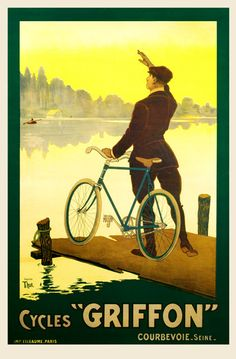 Cycles Griffon Vintage Bicycle Poster cycling motivation, cycling posters, cycling, cycling quotes, classic cycling
