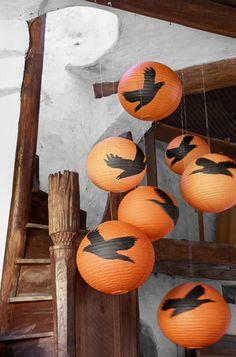 DIY Halloween Paper Lanterns - Paper Lantern Crafts