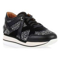 Jimmy Choo London black glitter sneaker - Jimmy Choo via Stylect