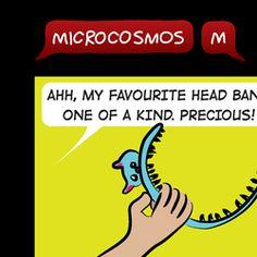 23/52 Headband #Microcosmos #webcomic #comicstrip #comics #kids #children #familyfriendly #headband #funny #humor #joke #drawing Funny Humor, Comic Strips, Friends Family, Children, Kids, Little Girls, Jokes, Drawing, Comics