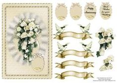 White Rose Bouquet Wedding Or Anniversary Card