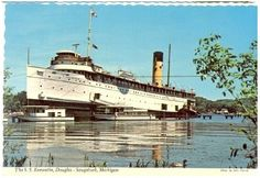 S.S. Keewatin. Douglas, Saugatuck Michigan. Sherwood Forest Bed and Breakfast Postcard Collection