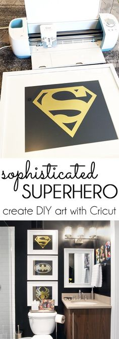 {diy with style} How to Create Sophisticated Superhero Art with Cricut