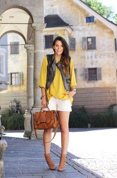 #fashion #fashionista Irene grigio giallo bianco