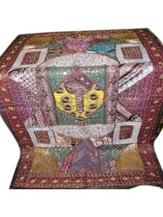 Amazon.com - Indian Wall Hanging Tapestry Embroidery Purple Handmade Vintage Sari Throw Mogulinterior