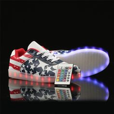 94894fbfb1e5c Remote Led Luminous Shoes for Adults Men USB Led Light Up Shoes Glowing  Chaussure Tenis Led