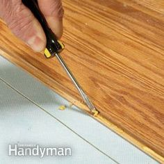 Laminate floor get a ding? Whether it's a small chip or a big divot, you can repair it with simple, DIY techniques that make the floor look as good as new.