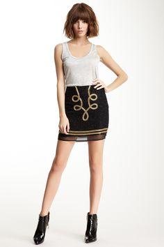 April, May Tolka Silk Beaded Skirt on HauteLook