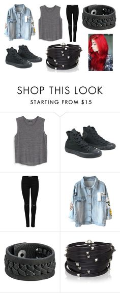 """""""Michael Clifford Inspired JET BLACK HEART Outfit"""" by fashionoftv-05 ❤ liked on Polyvore featuring MANGO, Converse, Frye and Sif Jakobs Jewellery"""