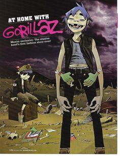 Gorillaz Article Clipping magazine