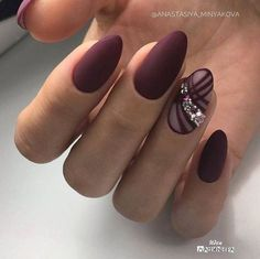 Beautiful Unique and Trendy Nail Designs That You Will Love Round Nails, Oval Nails, Trendy Nail Art, Stylish Nails, Fabulous Nails, Perfect Nails, Nail Art Arabesque, Nagel Bling, Burgundy Nails