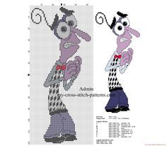 Cross stitch patterns Disney Inside Out Fear