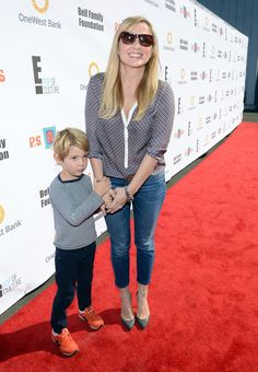 Jessica Capshaw and her son