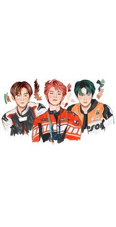 Nct 127, J Pop, Kpop Drawings, Cute Drawings, Nct Life, Mark Nct, Fanarts Anime, Jaehyun Nct, Nct Taeyong