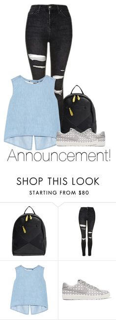 """""""Announcement. // desc."""" by jackrabbit0823 ❤ liked on Polyvore featuring Poverty Flats, Topshop, Steve J & Yoni P and NIKE"""