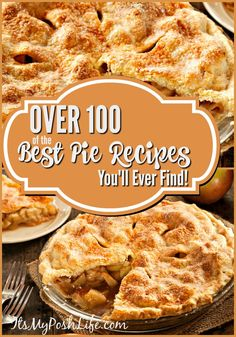 OVER 100 of the BEST PIE RECIPES You'll Ever Find