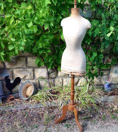 Rare Mannequin Ancien Couture Taille DE Guêpe Objet DE Métier Déco Shabby 19ÈME | eBay