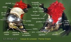 Parts of a Cuirassier helmet (in French)