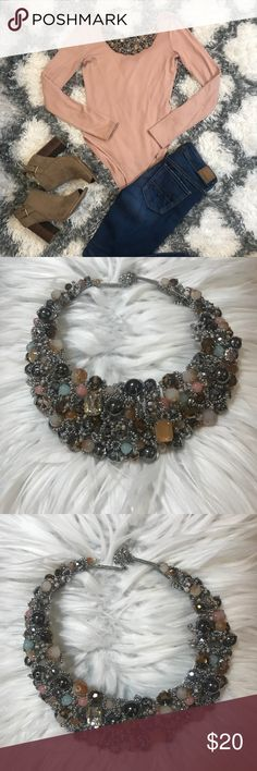 Beaded Necklace Beautiful statement necklace featuring many different types of beads. Beads add fun texture to a chic look. My price is firm. No trades. First come, first served. Thank you! :) NWOT Aldo Jewelry Necklaces