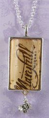 commemorate a special occasion by including the wine cork in a pendant Wine Cork Jewelry, Old Jewelry, Cork Necklace, Dog Tag Necklace, Cork Ideas, Wine Corks, Soldering, Fun Stuff, Upcycle