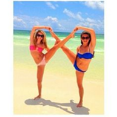 Another way to take an infinity picture with cheerleading .i think my friend and I can pull that off