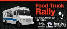 Food Truck Rally at BestBet in Orange Park on March 29th