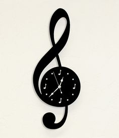 This clock is made of 16 gauge steel and has a painted textured black finish. Th… - Diy Music Clock, Music Wall, Vinyl Record Clock, Vinyl Records, Record Crafts, Piano Art, Fancy Watches, Wall Clock Design, Creation Deco