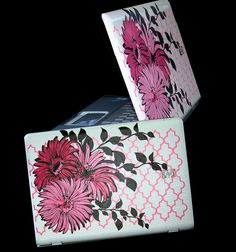 Laptop Art Flowers