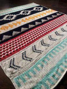 Ravelry: Boho Desert pattern by Rachele Carmona Boho Boho Desert – Knitting Blanket 2020 Crochet Afghans, Tapestry Crochet, Crochet Stitches, Doilies Crochet, Crochet Home, Crochet Crafts, Yarn Crafts, Knit Crochet, Crochet Skirts