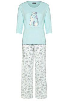 Clothing at Tesco   F&F Polar Bear Pyjamas > nightwear > Nightwear & Slippers > Women