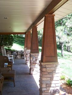 Cool 80 Gorgeous Wooden and Stone Front Porch Ideas https://homstuff.com/2017/09/17/80-gorgeous-wooden-stone-front-porch-ideas/