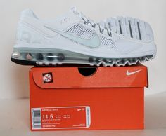 Nike Men's Air Max + 2013 Running Shoes 554886 100 White/Silver/Grey Size 11.5 #Nike #RunningCrossTrainingSneakers