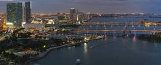 Port of Miami Night Panorama by Eye Van, via Flickr