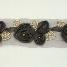 Mocha Color Flower Chiffon Lace for baby girls Hair by annielov, $10.00