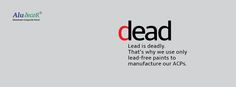 Keeping in mind that lead is extremely harmful to health, Aludecor uses lead-free pigmented colours in coating line. Everyone's safety is our prime concern. #LeadFree #SafetyFirst #WallPanels