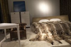 Designers Show Home Collections at Salone del Mobile Fur Bedding, Fur Accessories, Fur Blanket, Fur Throw, Soft Blankets, Room Rugs, Home Collections, Art Decor, Home Decor