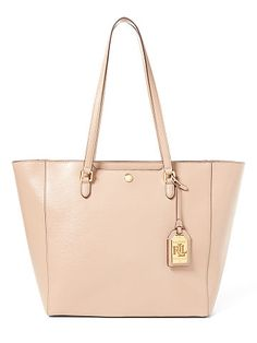 Lauren Medium Halee Leather Tote - Lauren Totes & Shoppers - Ralph Lauren UK