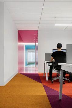// Startup office design inspiration and creative commercial workspace design idea. Corporate Office Design, Small Office Design, Office Interior Design, Office Interiors, Business Design, Interior Design Inspiration, Corporate Business, Office Designs, Workspace Design
