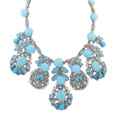 Acrylic Necklace, Zinc Alloy, with Acrylic, with 6cm extender chain, gold color plated, blue, lead & cadmium free, 42cm,china wholesale jewelry beads
