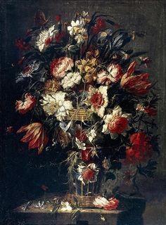 Flowers In A Vase Juan de Arellano