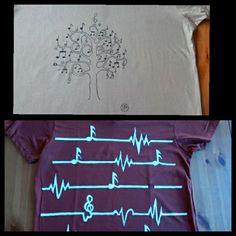 Camisetas pibtadas a mano con pincel. Regalo personalizado.