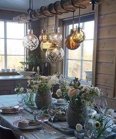 Decor Interior Design, Interior Decorating, Easter Table Settings, Hanging Canvas, A Frame House, Table Set Up, Modern Retro, Modern Kitchen Design, Lighting Design