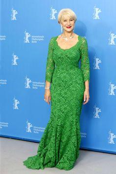 В коллекции Хелен Миррен собраны самые разные модели кружевных платьев Dolce&Gabbana всевозможных цветов