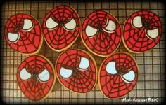 Spiderman Cake Pops and Cookies - Spaceships and Laser Beams Superhero Treats, Superhero Theme Party, Superhero Birthday Cake, Novelty Birthday Cakes, Boy Birthday Parties, 4th Birthday, Birthday Ideas, Spiderman Cake Topper, Spiderman Theme